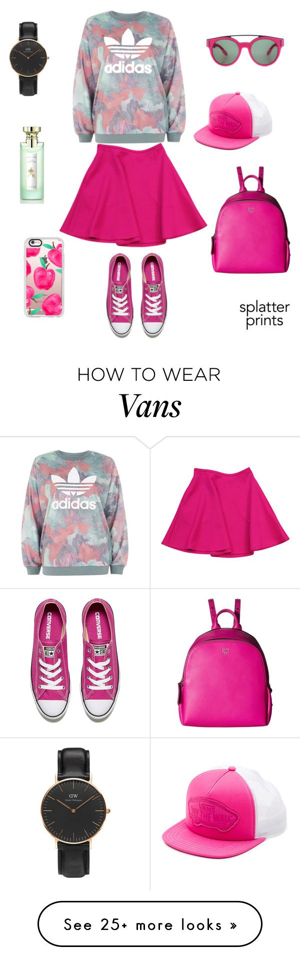 """Shocking Print"" by rennyliayustika on Polyvore featuring adidas, Ted Baker, Converse, MCM, Vans, Casetify, Bulgari, Daniel Wellington and Givenchy"