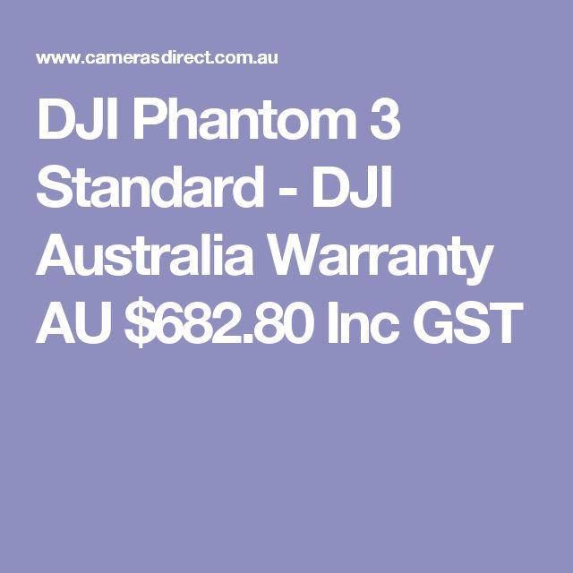 DJI Phantom 3 Standard - DJI Australia Warranty  AU $682.80 Inc GST