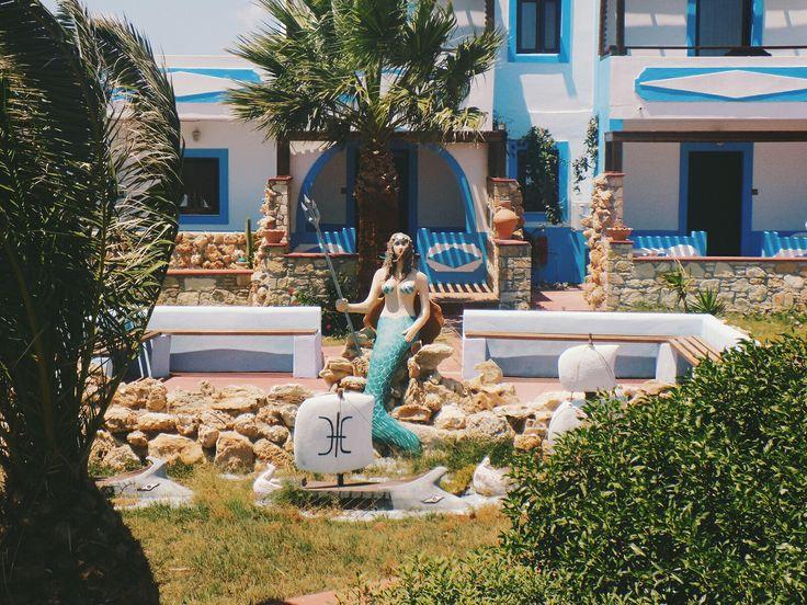 #greece#karpathos#bluelagoon#studios#mermaid#statue#seashell#traditional#loveblue