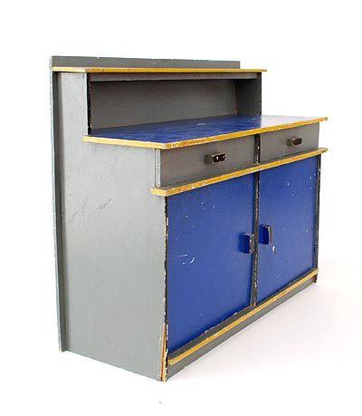 Wooden sideboard no.577/2, design Ko Verzuu 1932, executed by ADO / (Arbeid Door Onvolwaardigen), Berg en Bosch / the Netherlands