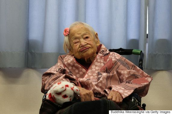 God bless the World's oldest woman Misao Okawa who just celebrated 117th Birthday.  This picture reminds me of how I felt after my latest kidney stone.