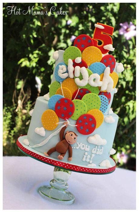 Curious George Icing Smiles cake - by hotmamascakes @ CakesDecor.com - cake decorating website