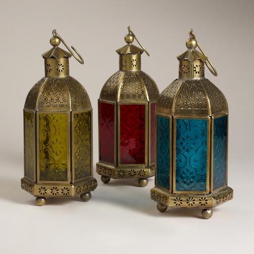 Small Luce Lantern Candleholder, Set of 3