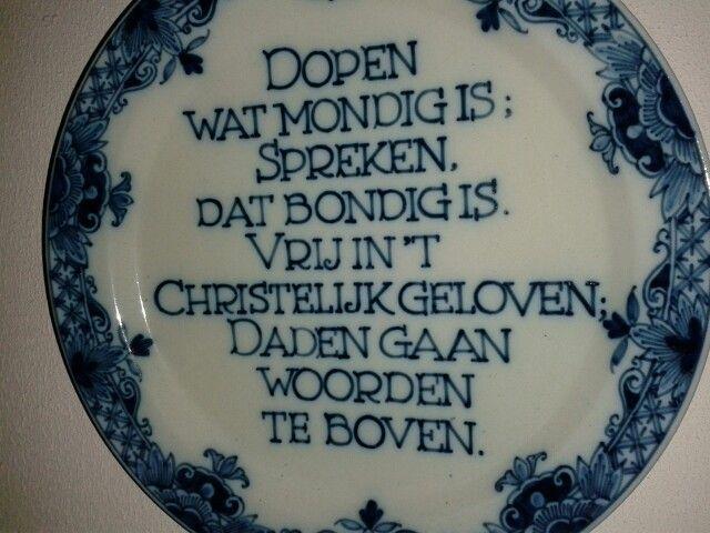 Delfts blauw doopsgezind bord