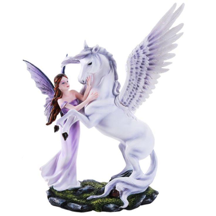 Fairy & Pegasus Statue