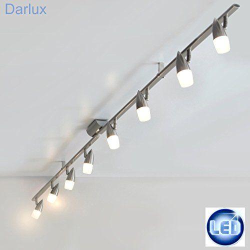 Deckenlampe LED 8 x 5Watt Power LED 40W LED Deckenleuchte 218cm LED Lichtschiene LED Spot-Leiste Edelstahl NEU