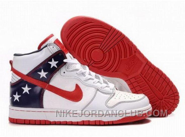 http://www.nikejordanclub.com/canada-mens-nike-dunk-high-top-shoes-white-navy-red.html CANADA MENS NIKE DUNK HIGH TOP SHOES WHITE NAVY RED Only $94.00 , Free Shipping!