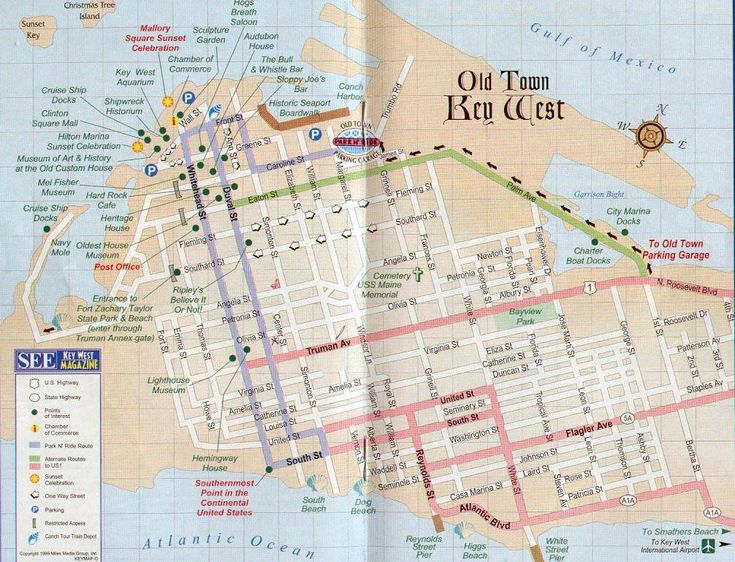 key west map | Top > USA-South > Key West > Maps and Guides > key-west-map