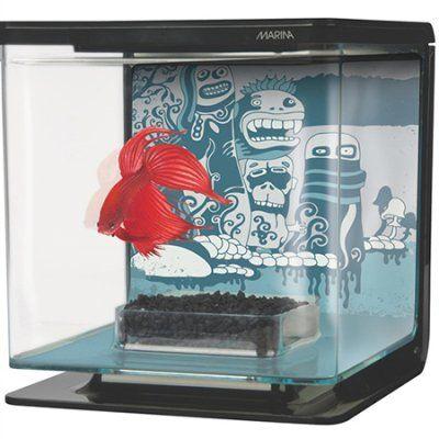 Betta Kit Wild Thing kampfisk akvarium er et lite og lekkert akvarium til kampfisk. Ypperlig til å vise frem fisken.
