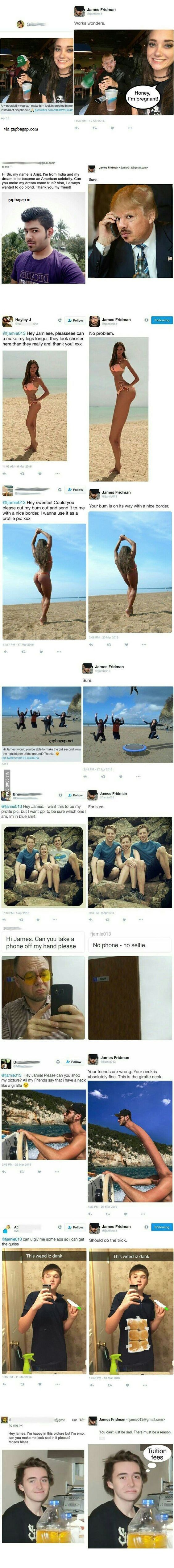 Top 10 Funny Photoshop By James Fridman