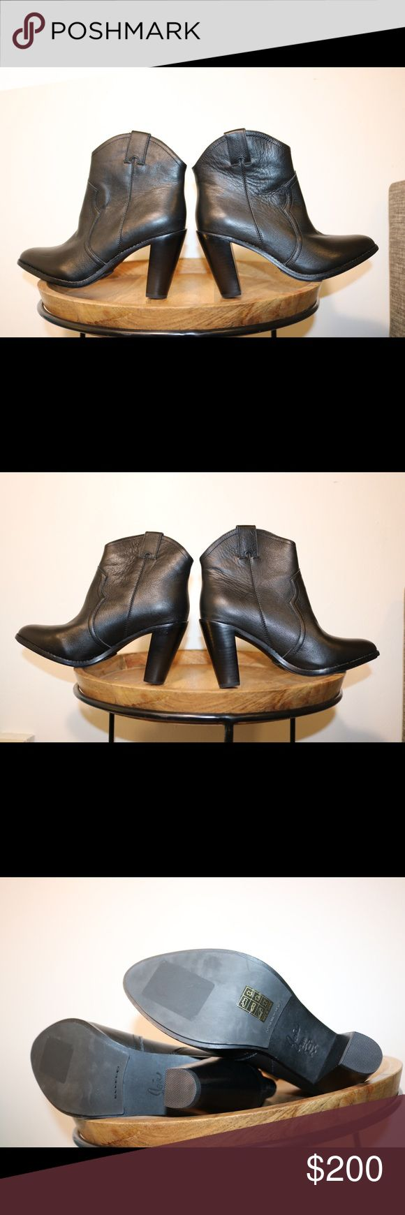 NWOT Joie Black Leather Booties Brand new. Never worn outside of the store. Please note photos were taken with a high resolution camera so things that may look like flaws are just lighting and resolution. I disclose all issues within the item description. Joie Shoes Ankle Boots & Booties