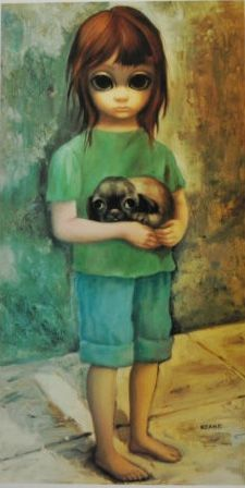 "Big Eyes ""New Puppy"" by Margaret Keane"