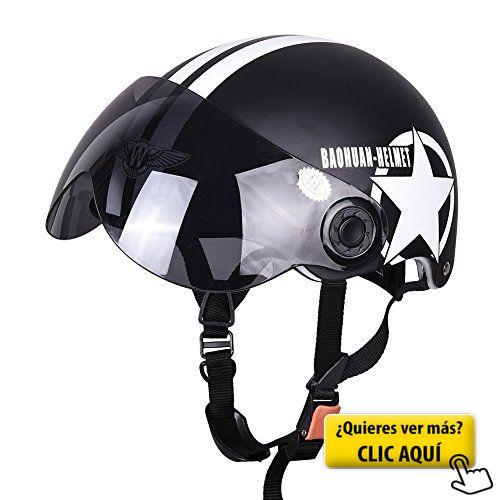 Fastar Casco de moto Casco de motocicleta medio... #casco #moto