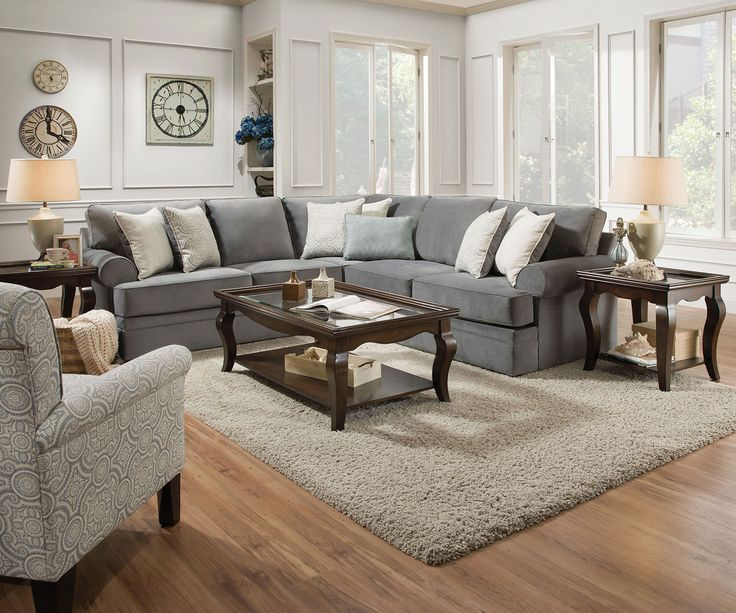 The Nyos sectional sofa brings a cozy and casual feel to ...
