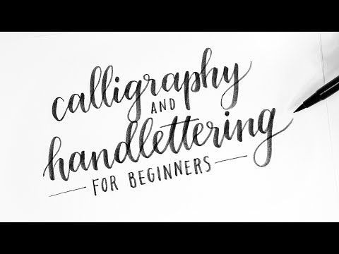 How To: Calligraphy & Hand Lettering for Beginners! Tutorial + Tips! - YouTube