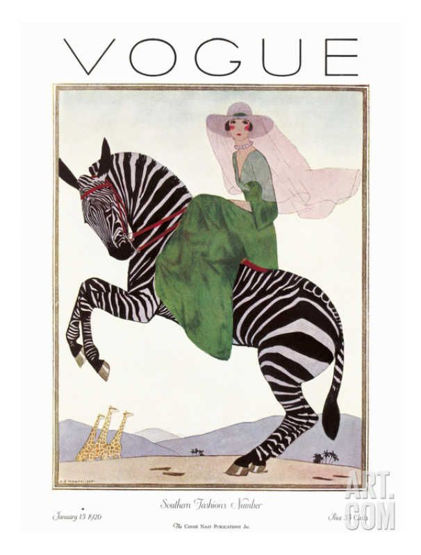 Vogue Cover - April 1918 Regular Giclee Print by George Wolfe Plank at Art.com