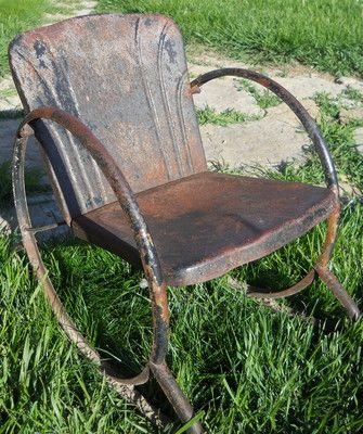 Advertisement Vintage Metal Lawn Chair   Google Search