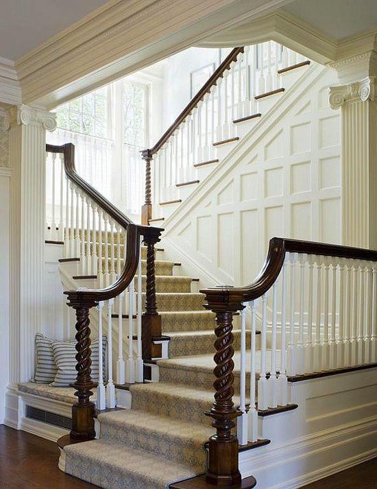Stunning Staircase Gorgeous Millwork Dream Interior