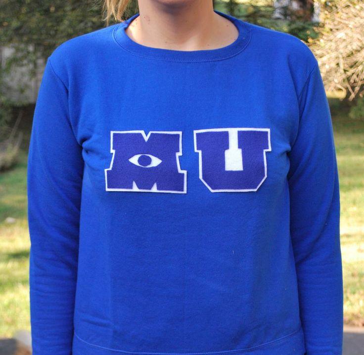 the diy: monsters university sweatshirt