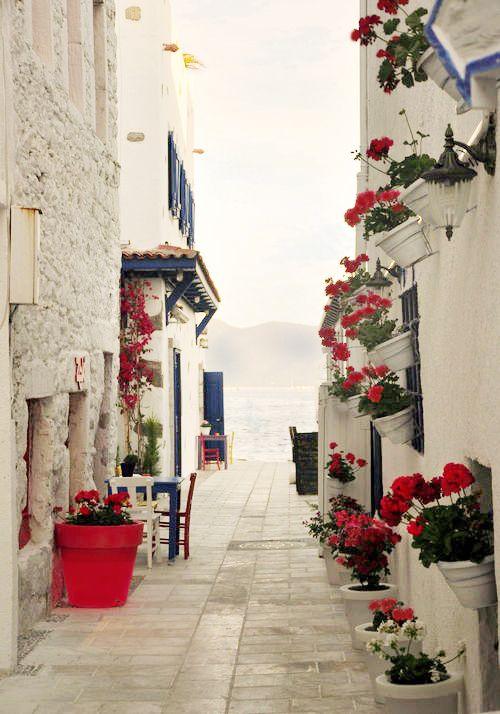 Santorini in a new color, Greece