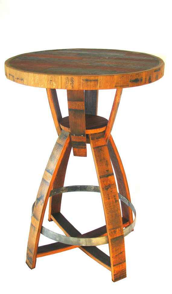 how to make a whiskey barrel pub table