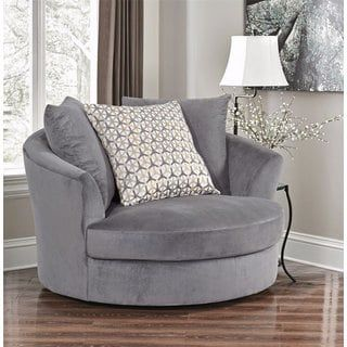 Shop for Abbyson Tanya Grey Fabric Round Swivel Chair. Get free shipping at Overstock.com - Your Online Furniture Outlet Store! Get 5% in rewards with Club O! - 21027124