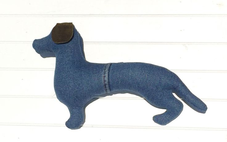 A lovely Dachsi-Rodeo Dog (sml) - Rickety Gates - faux taxidermy