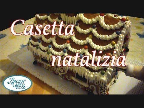 ▶ Torte natalizie: casetta decorata in ghiaccia reale by ItalianCakes - YouTube