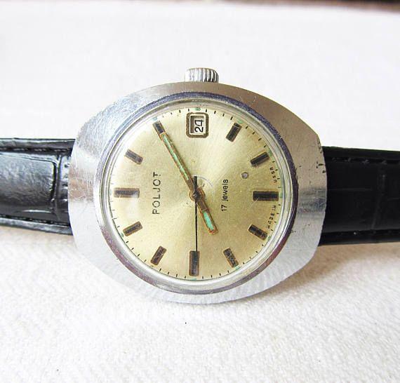 Russian Watch Poljot 17Jewels Working Vintage Men's Watch