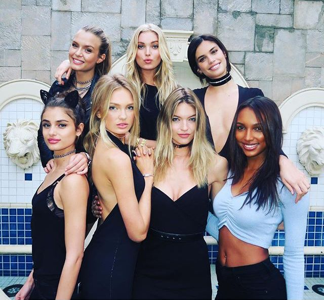 April 2016: VS Angels Go to Vegas, Have the Best Girls' Weekend Ever. Jasmine Tookes, Elsa Hosk, Sara Sampaio and Taylor Hill