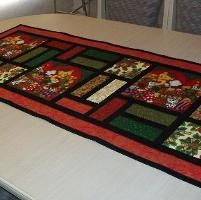 Christmas Table Runner - Stained Glass - via @Craftsy