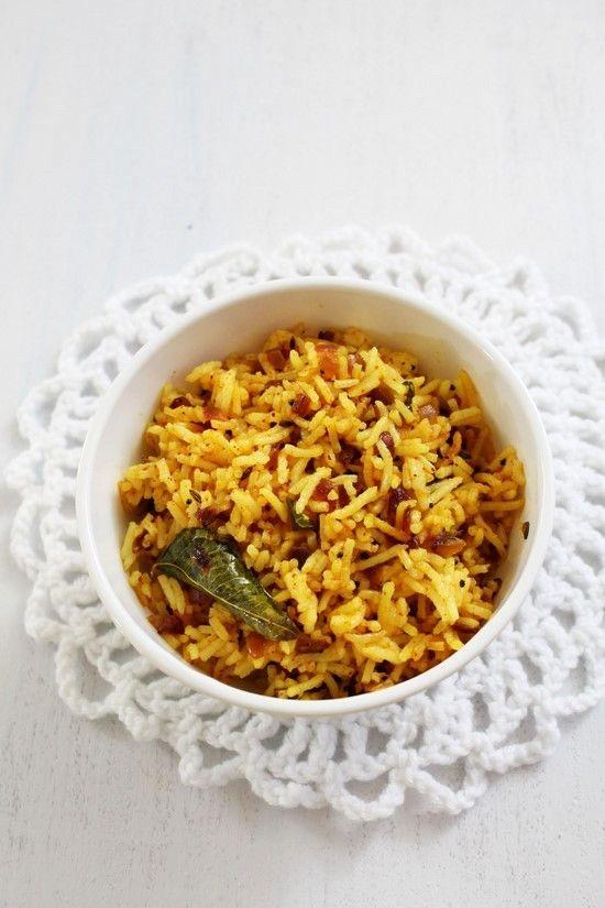 Phodnicha Bhaat: Maharashtra seasoned rice.