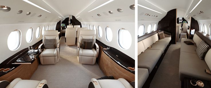 Falcon 8X One of the nicest private planes on the market. Costing about $55 Million