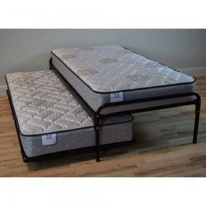 Duralink Metal Twin Trundle Bed Pop-Up Trundle