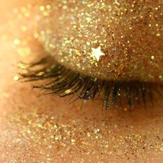 #aesthetic #yellow #glitter #eyes #makeup #eyeshad…