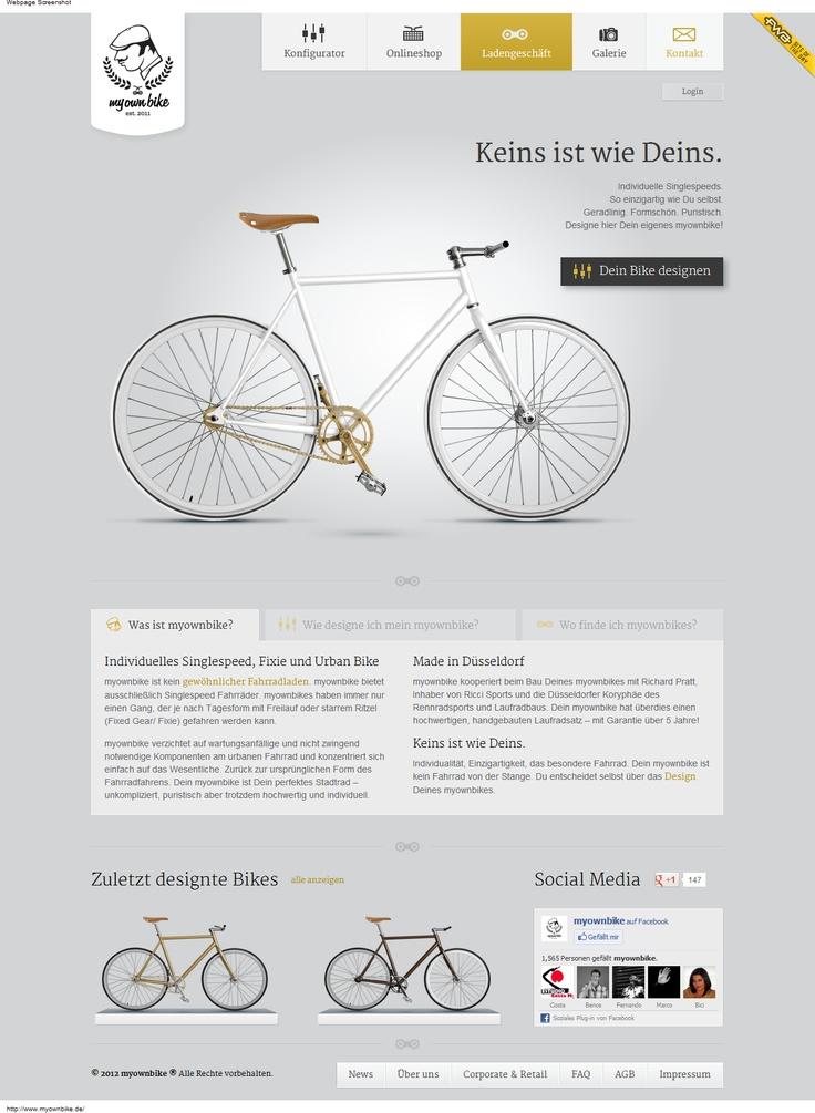 Web Design Inspiration - www.myownbike.de