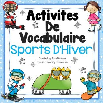 Free winter sports activities perfect for the upcoming Winter Games! Word wall signs and vocabulary activities to help your students learn winter sports vocabulary. This product is intended for use with a French as a Second Language (FSL) class.