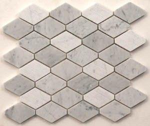 Moasic marble tiles - Portobello Carrara