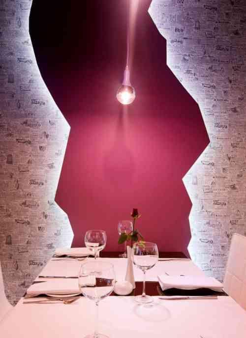 papier peint journal pour salle à manger chic