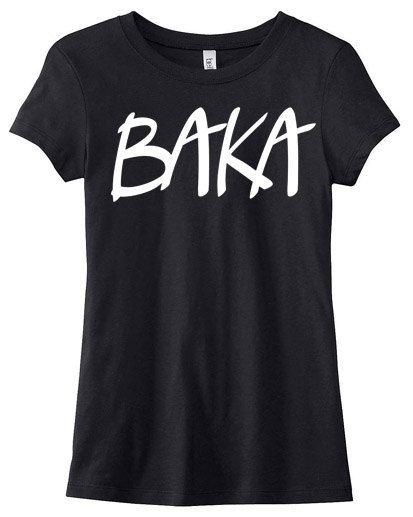 Baka anime T-shirt Ladies  anime shirt japanese by gesshokudesigns