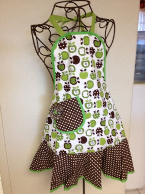 Little Green Apples apron with twirl skirt. $35.00, via Etsy.