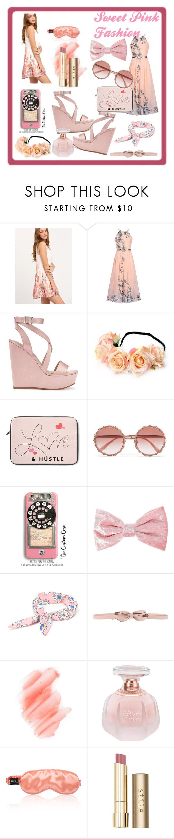 """Sweet Pink Fashion"" by lisa-fischer-1 ❤ liked on Polyvore featuring WithChic, Miss Selfridge, Dolce&Gabbana, Samsung, RED Valentino, Birchrose + Co. and Stila"