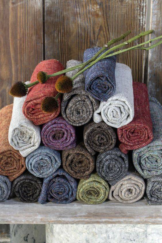 Where practical meets elegant, its colour-speckled weaving and chenille thread create style and softness.   #elitis #tailor #fabrics #design