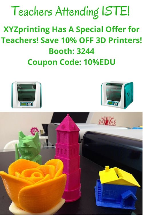 Teachers Attending ISTE for 2016 Can Save 10% off 3D Printers!