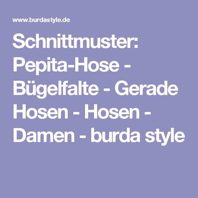 Schnittmuster: Pepita-Hose - Bügelfalte - Gerade Hosen - Hosen - Damen - burda style
