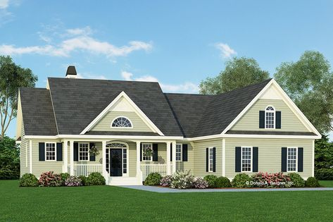 Ranch Style House Plan - 3 Beds 2.50 Baths 1970 Sq/Ft Plan #929-938 Exterior - Front Elevation - Houseplans.com