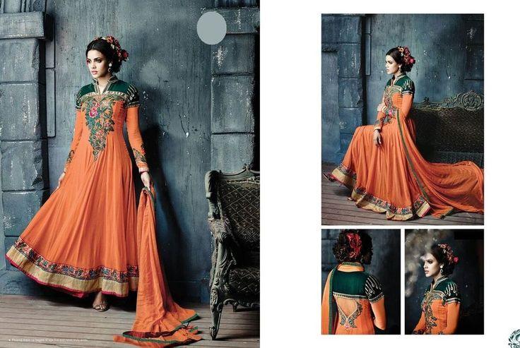 Indian Pakistani Designer Shalwar Bollywood Anarkali Salwar Kameez Suit 732-24 #JF