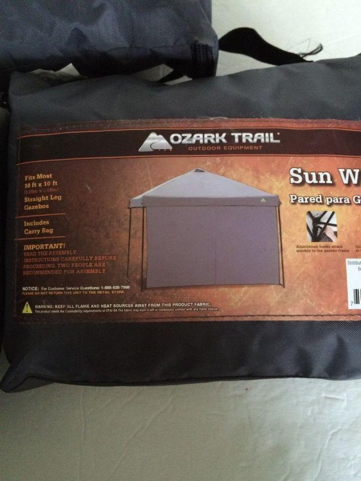 10x10 Tent Sidewalls Kit Set of 3 Tent Walls Ozark Trail Tent Walls 10 x 10 #OzarkTrail