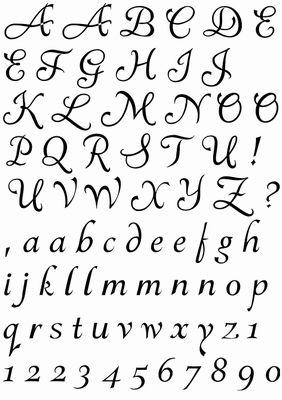 alfabet ozdobny szablon - Szukaj w Google