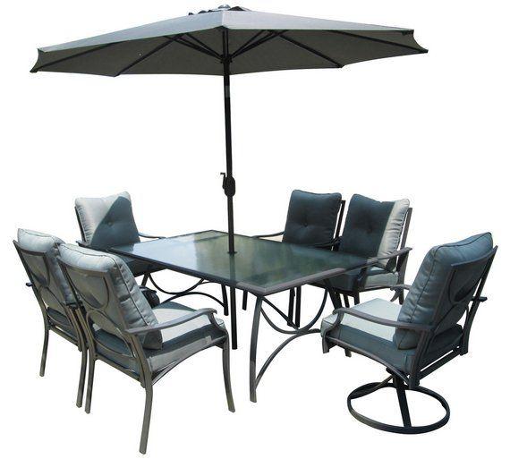 Buy Seville 6 Seater Garden Dining Set At Argos Co Uk 400 x 300